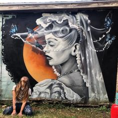 Street Art Best Of February 2018 As Every month here's Best of Street Art. All these street art and graffiti artworks were realised in the last few weeks. Graffiti Girl, Graffiti Artwork, Mural Art, Wall Art, Street Art Banksy, Street Mural, Wall Street, Best Street Art, Amazing Street Art