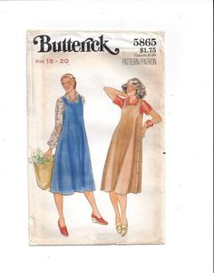 Butterick 5865 Pattern for Misses' Jumper, Size 18-20, From Early 1970s, FACTORY FOLDED, UNCUT, Plus Size, Vintage Pattern, Home Sewing by VictorianWardrobe on Etsy