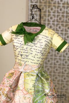 Yvette One of a kind paper dress-made by Paula Joerling.
