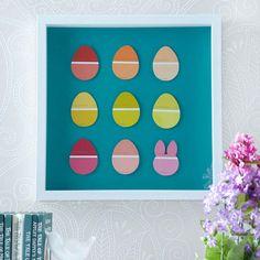 Paint-Chip Easter Egg Art