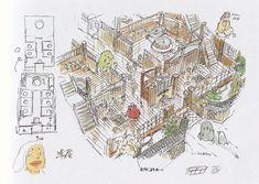 "cinyma: "" Spirited Away bathhouse concept art "" Hayao Miyazaki, Spirited Away Bathhouse, Anime Manga, Anime Art, Manga Girl, Anime Girls, Art Studio Ghibli, Parc A Theme, Les Fables"