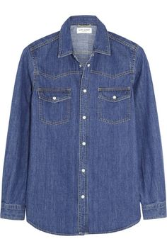 Denim shirt. Saint Laurent