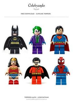 Free Toppers Lego Batman Gratis - Celebrando Fiestas