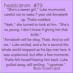 I've never shipped Thaluke....but this is still pretty cute. Actually, even though I freaking Titanic Percabeth, I couldn't help but ship Lukabeth a teeny bit. Plus, I really do think Luke was in love with Annabeth...