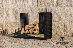BOLD Fireplace Support Wood Holder 3D Grating Severa Finnishings Wood Storage, Three Dimensional, Concept, 3d, Design, Lumber Storage, Design Comics