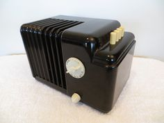 Vintage 1938 Art Deco Miniature Goodyear Pushbutton Old Antique Bakelite Radio | eBay