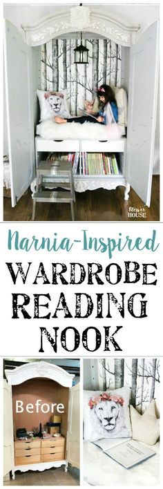Narnia-inspired reading nook