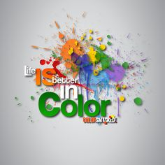 Life IS better in color! http://colorsmacked.com/