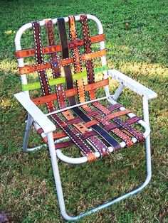 Old Belts? Create Some Interesting Pieces of Furniture!   Architecture, Art, Desings - Daily source for inspiration and fresh ideas on Architecture, Art and Design