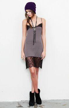 All Nightie Dress, Grey.