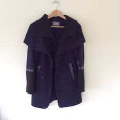 mackage blue wool coat jacket s / p Pre owned mackage blue wool coat jacket s / p. Minor wear.  ❌ sorry no trades - price is firm even if bundled ❌ Mackage Jackets & Coats Pea Coats