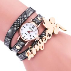 Women's Dancers Around Leatherette Quartz Wrist Watch 8 colors to choose from