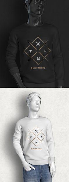 Free Long Sleeve T-shirt Mockup #freepsdfiles #freepsdmockups #freebies #mockuptemplates #stationarymockup