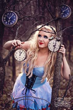 alice in wonderland....we need some old clocks