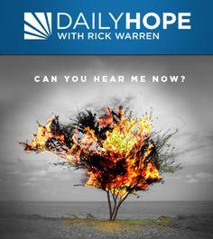 How God Talks to You by Rick Warren ~ Listen http://rickwarren.org/listen/player?bid=7ab42988-fd1e-435c-be0a-440f36e2e90a