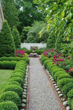 120 Gartenwege Ideen: Backstein in Kombination mit anderen Materialien