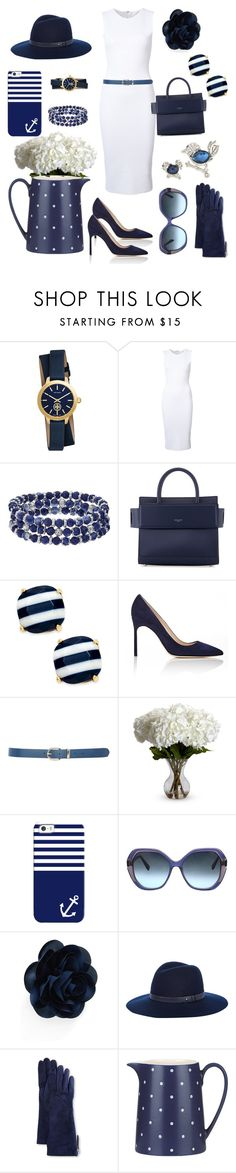 """Classic Navy and White"" by klm62 ❤ liked on Polyvore featuring Tory Burch, Victoria Beckham, Chaps, Givenchy, Kate Spade, Manolo Blahnik, M&Co, Nearly Natural, Casetify and Oscar de la Renta"