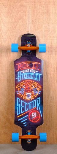 """The Sector 9 39"""" Sprocket Orange is designed for freeriding, freestyle, carving, and cruising."""