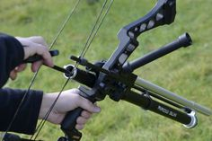 Compound bow with airow gun paintball