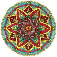 Coloured Version of Mandala 1 July 2014 by Artwyrd