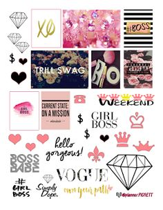 FREE Printable Stickers @ planner.PICKETT: Girl Boss