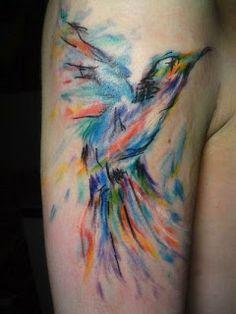 I wish; hummingbird watercolor tattoo