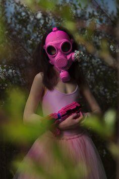 #pink #gasmask #conceptual