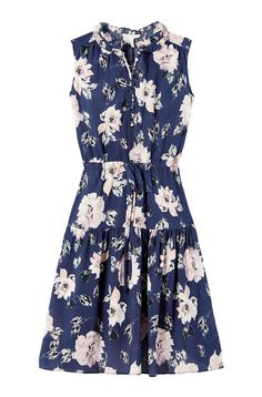 Magnolia Floral Silk Dress | Rebecca Taylor