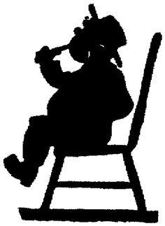 silhouette child boy heavy drinking bottle