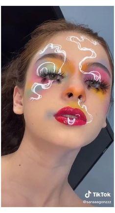 Cool Makeup Looks, Crazy Makeup, Cute Makeup, Pretty Makeup, Weird Makeup, Edgy Makeup, Makeup Inspo, Makeup Inspiration, Tribal Makeup
