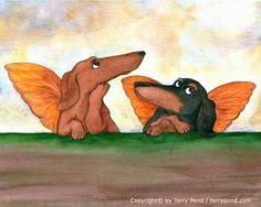 Raphael Inspired Dog Cherubs