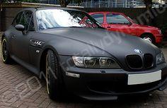 BMW Z3M Coupe wrapped matte black