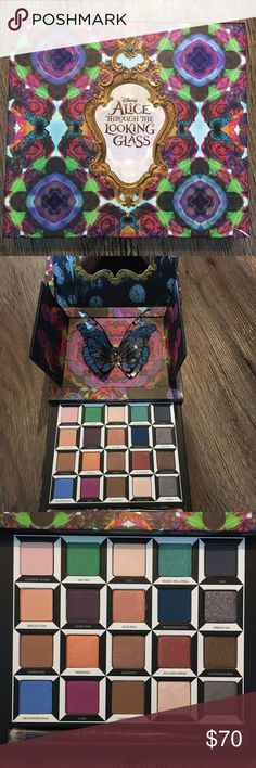 Urban Decay Brand New Alice Palette - Hard to Find 'Alice Through the Looking Glass' Eyeshadow Palette (Limited Edition) by Urban Decay. This palette is highly sought after as it's sold out and discontinued. This one is brand new in its original box.   Shades include: - Bandersnatch - Heads Will Roll - Chessboard - Looking Glass - Mirror - Reflection - Time - Chronosphere - Kingdom - Lily - Royal Flush - Salazen Grum - Cake - Dream On - Duchess - Paradox - Dormouse - Gone Mad - Hatter…