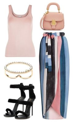 """Untitled #1429"" by whoneedsadvicewhenyougotme on Polyvore featuring La Perla, Mara Hoffman, Giuseppe Zanotti and Burberry"