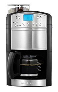 Russell Hobbs Platinum Grind and Brew Coffeemaker 14899, 1.25 L - Silver and Black