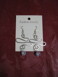 orecchini alluminio battuto di uncinettotuttomatto su DaWanda.com
