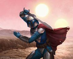 Beskad Duelist by JB Casacop Star Wars Pictures, Star Wars Images, D&d Star Wars, Star Wars Painting, Mandalorian Armor, Star Wars Concept Art, Nerd Love, Marvel, Animation
