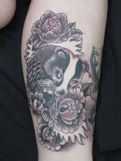 tribal honey badger tattoo other peoples tattoos but