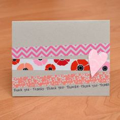 Make this cute and simple handmade card in five minutes or less!