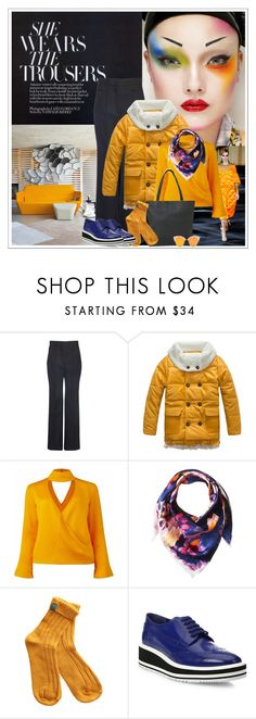 """CONTEMPORARY"" by gustosa ❤ liked on Polyvore featuring ATP Atelier, Yumi, Ligne Roset, Givenchy, Conflict of Ego, BCBGMAXAZRIA, Prada, contemporary, orange and puffers"