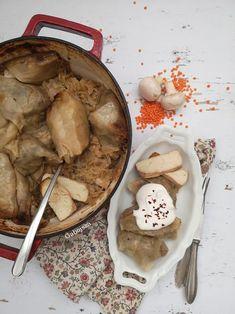 """""""Anya, ez isteni!..."""", avagy Gabojsza konyhája: Vegán töltött káposzta Vegan Christmas Desserts, Dessert Drinks, Lidl, Tofu, Stuffed Mushrooms, Vegetables, Stuff Mushrooms, Vegetable Recipes, Veggies"""