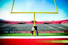 Rutgers, The Birthplace Of College Football (and a great spot for engagement pictures!) via @CLB_Photography
