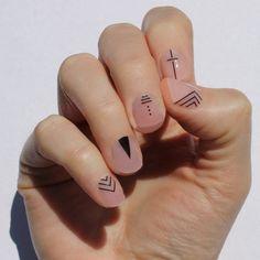 Black Inked Nail Wraps