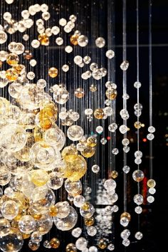 Bubbles in Space lighting sculpture by LASVIT - found on tumblr.  Original post by moderndelights, pinned fromhttp://bkatzglass.tumblr.com/