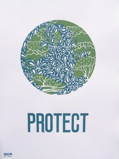 Protect our Earth 'Trees and dolphins' screenprint.. £49.00, via Etsy.