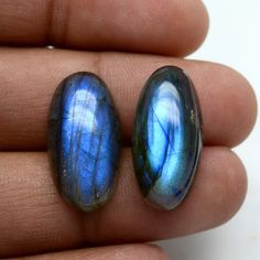 Best Wholesale Lot AAA+ Top Quality C7664 Natural Labradorite Loose Gemstone Black Rainbow Oval Shape Cabochon 22X16mm 4 Piece Lot