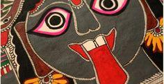 Madhubani painting ~ Kali III (7.5'' X 11'')