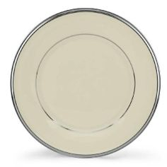 Lenox Solitaire Platinum Banded Ivory China Salad Plate by Lenox. $18.90. Accented with precious platinum. Crafted of Lenox ivory fine china. Made in USA. Diameter 8-Inch. Dishwasher-safe. The simplicity of Solitaire is the height of sophistication. The glow of Lenox ivory fine china banded in glistening platinum creates a pattern of subtle beauty.. Save 30% Off!