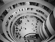 """Guggenheim Museum, New York, NY. """"The space within became the reality of the building."""" Frank Lloyd Wright"""