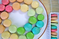 Rainbow Macaroons (from baking.love)